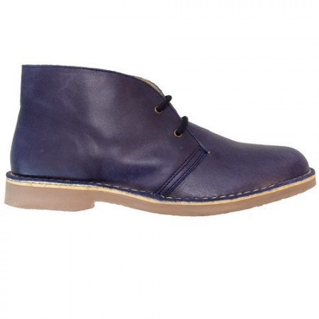 Desert boot blue nappa men