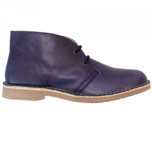 Desert boot blue nappa women