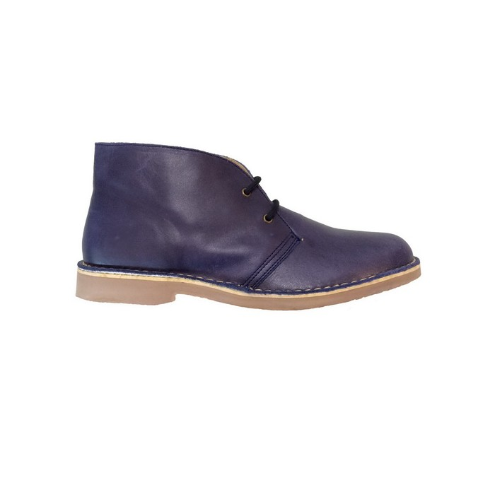 Lastest Roamers Womens Desert Boots In Blue Suede L380C At Marshall Shoes