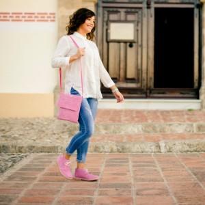 Bota mujer rosa