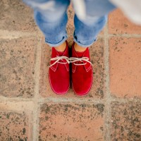 Botas safari mujer roja