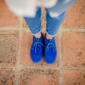 Frau Stiefel blau klein
