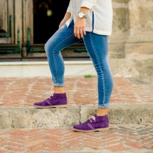 purple desert boot woman