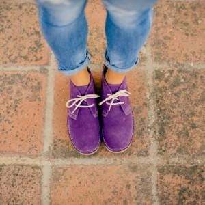 Ботинки женские фиолетовые