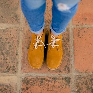 Ботинки женские цвета виски