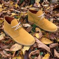 Ботинки мужские цвета мёда