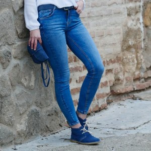 Queen Bag in Jeans Farbe