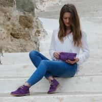 purple desert boot woman
