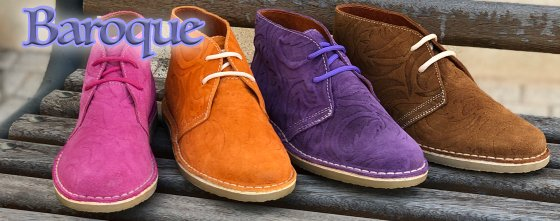 baroque leather desert boots