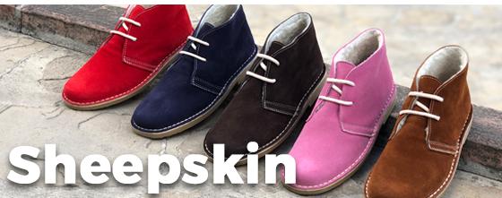 sheepskin lined desert boots